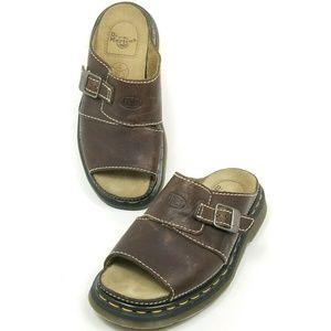 Dr Martens 9075 Mens 7 Womens Sz 8 Sandals Brown